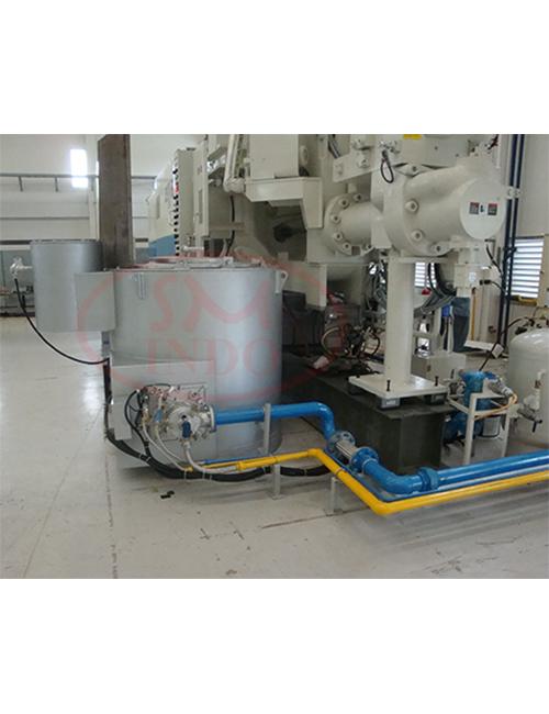 Gas Burner Aluminium Melting & Holding Furnace 300 kg  ( GB-Homel-300 )