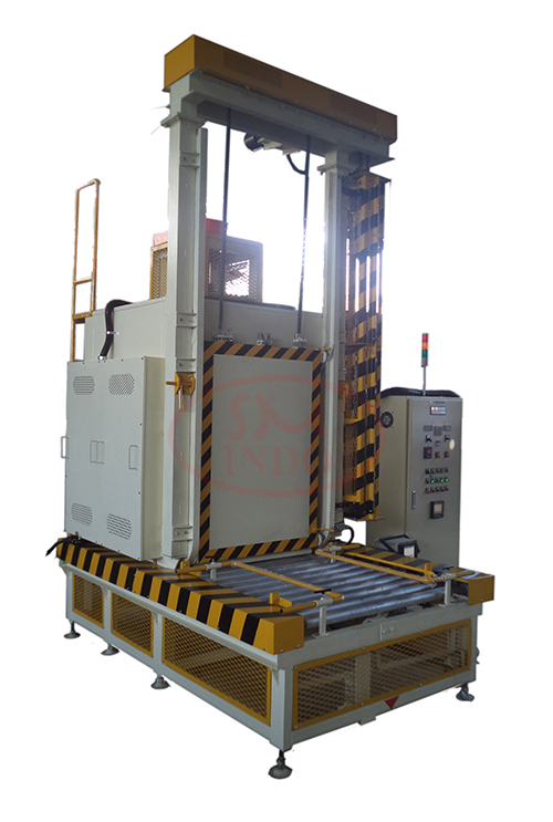 Vertical Lift Door Oven With Power Roller Conveyor and One Touch Operation System ( VLDO-PRC-OT )